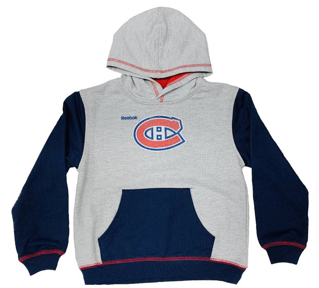 Montreal Canadiens Reebok Sweater - Kids - Grey & Blue