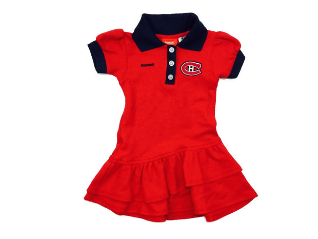 Montreal Canadiens Toddler Polo Dress Reebok - Girls - Red