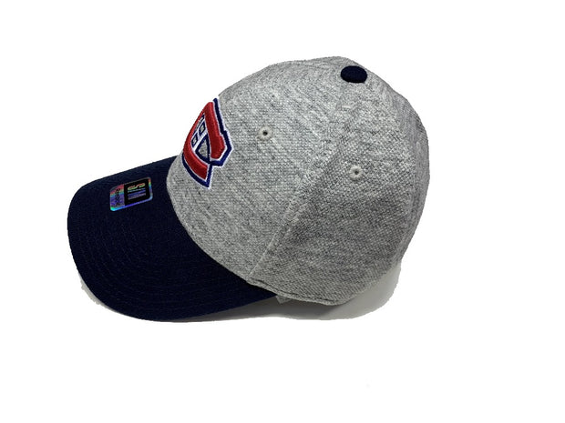 Reebok Montreal Canadiens MTL Home Spun Fitted Closed Back Cap - Men -Charcoal Grey