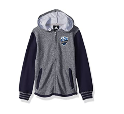 Youth Boys Adidas Montreal Impact Full Zip Hooded Sweater - Kids - Grey