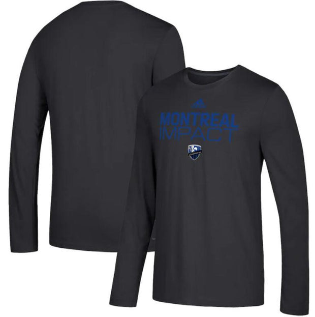 Adidas Montreal Impact Long Sleeve T-Shirt - Men - Black