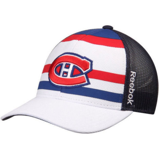 Montreal Canadiens Reebok NHL Adjustable Snapback Cap - Men - White, Blue and Red - FanaBox