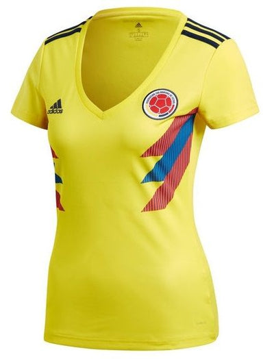 2018 FIFA World Cup Russia Adidas Colombia Jersey - Women - Yellow - FanaBox