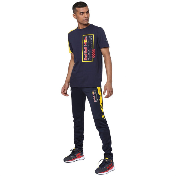 Puma Red Bull Racing OVERSIZED Logo T-shirt - Men - Navy Blue