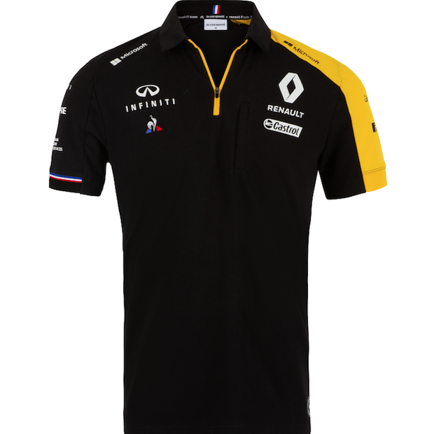 2019 Renault F1® Team Poloshirt - Men – Black - FanaBox