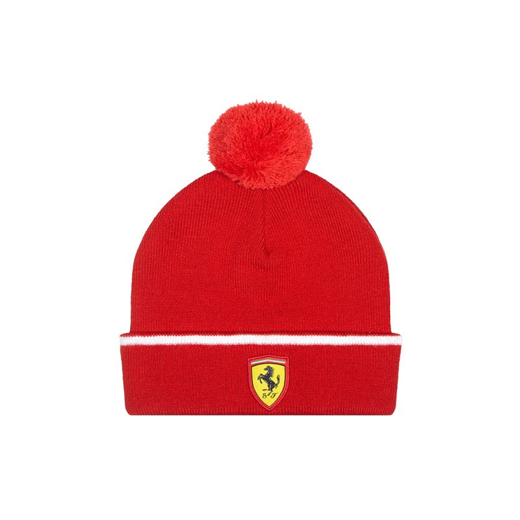 Scuderia Ferrari Rookies Bobble Beanie - Kids - Red - FanaBox