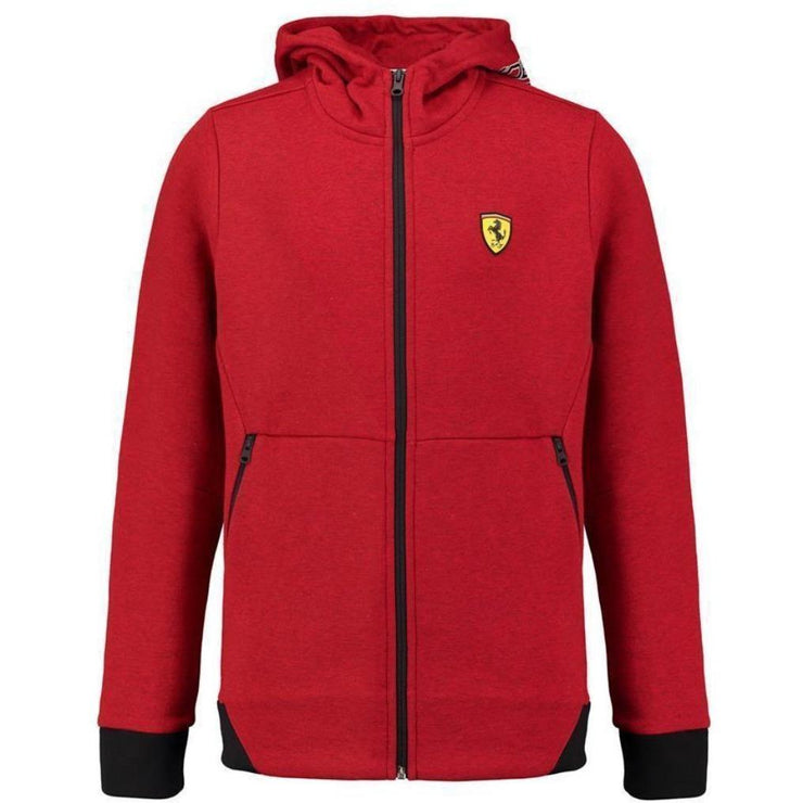 Scuderia Ferrari Hooded Full-Zip Sweat Jacket - Kids - Red - FanaBox
