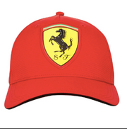Scuderia Ferrari Oversized Logo Carbon Fibre Cap - Men - Red