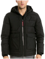 Puma Scuderia Ferrari Down Winter heavyweight Hooded Jacket - Men - Black