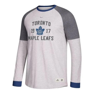 Adidas Toronto Maple Leafs Vintage Long Sleeve Shirt - Men - Grey
