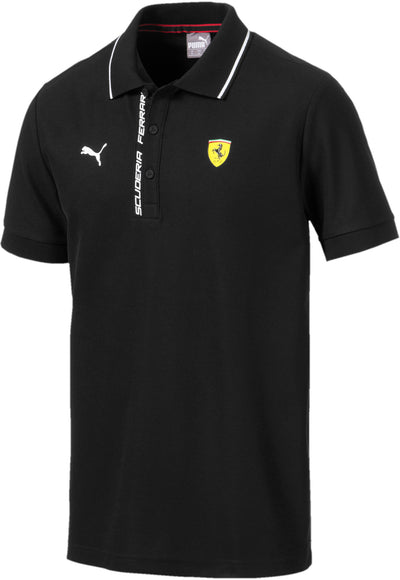 2019 Puma Scuderia Ferrari SF Lifestyle Polo shirt - Men - Black - FanaBox