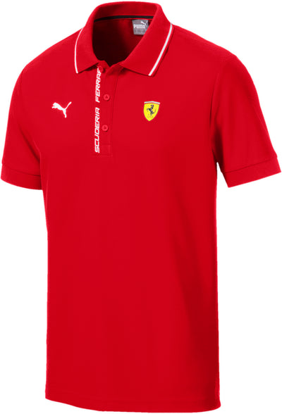 2019 Puma Scuderia Ferrari Lifestyle Polo shirt - Men - Red - FanaBox