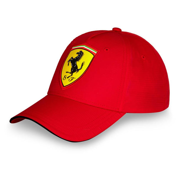 Scuderia Ferrari Oversized Logo Carbon Fibre Cap - Men - Red - FanaBox
