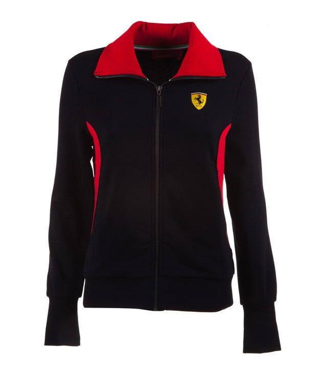 Scuderia Ferrari Full Zip Sweatshirt - Women - Black - FanaBox