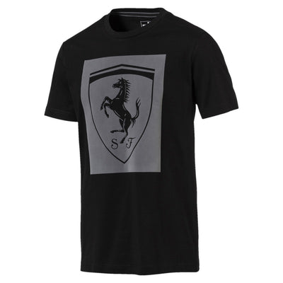 Puma Scuderia Ferrari Big Shield Tee - Men - Black and Grey - FanaBox
