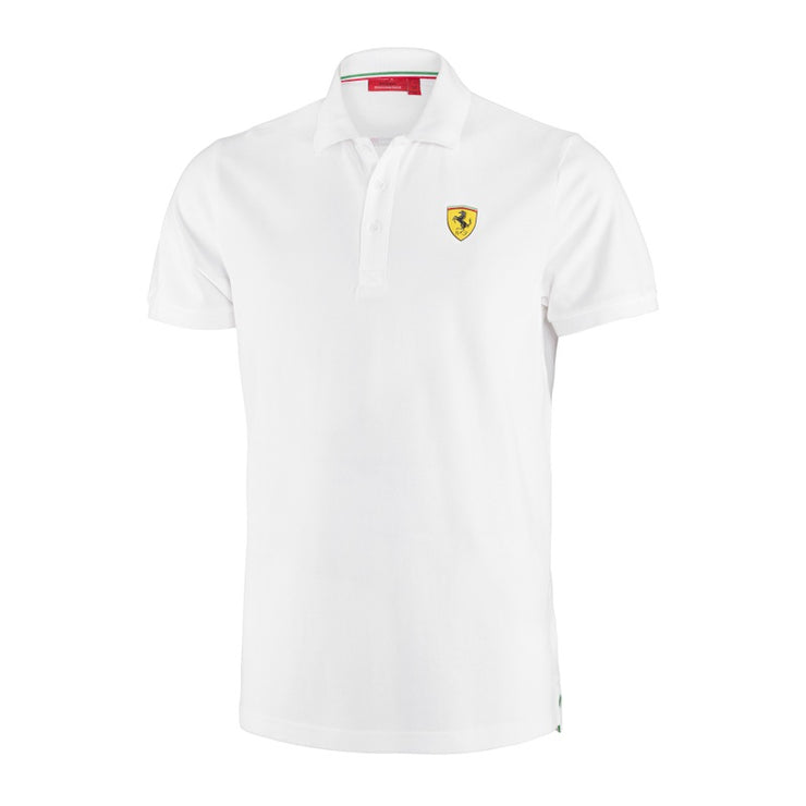 Scuderia Ferrari Classic Polo Shirt - Men - white - FanaBox