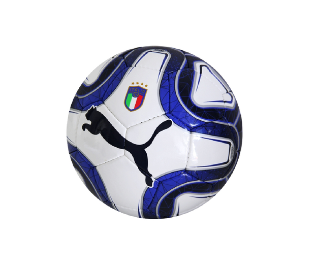 FIGC Puma Italia Soccer Mini Ball - Accesories - White & Blue