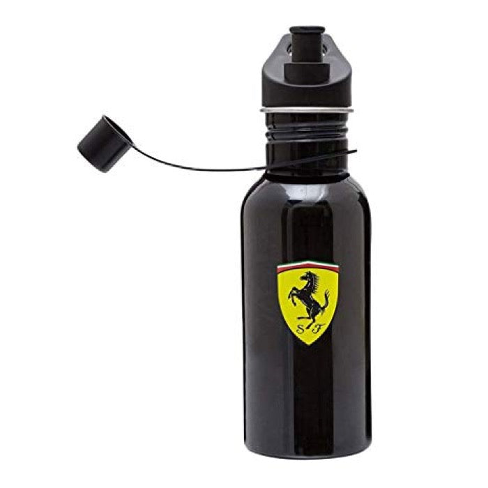 Scuderia Ferrari Stainless Steel Bottle - Accessories - Black - FanaBox