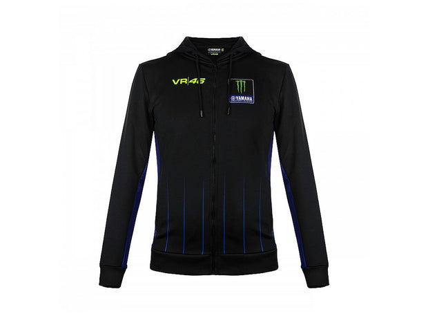 Valentino Rossi Monster Yamaha VR46 Black Hooded Sweatshirt - Men - Black