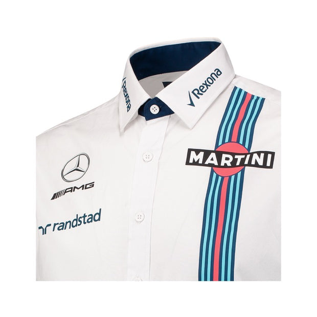 Williams Martini Racing Hackett London Button up Shirt - Men - White - FanaBox