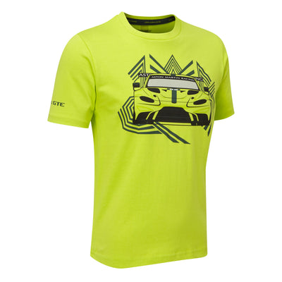 Aston Martin Racing Vantage GTE Race Car T-shirt - Kids - Lime Green