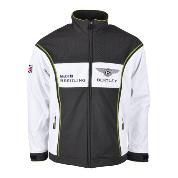Bentley Continental GT3 Motorsport Softshell Jacket - Men - White and Forest Green - FanaBox