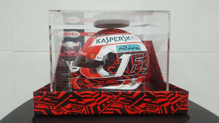 Scuderia Ferrari F1 Team Charles Leclerc Bell Racing Spa Grand Prix Deluxe Limited edition 1:2 scale mini original number 16 helmet red