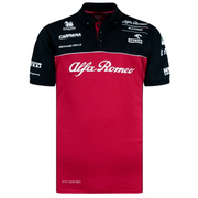 Alfa Romeo Racing ORLEN F1™ Team Technical Replica Polo Shirt Black and Burgundy Red Men