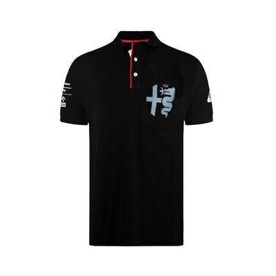 Alfa Romeo Racing Silver Tribute Polo Shirt - Men - Black