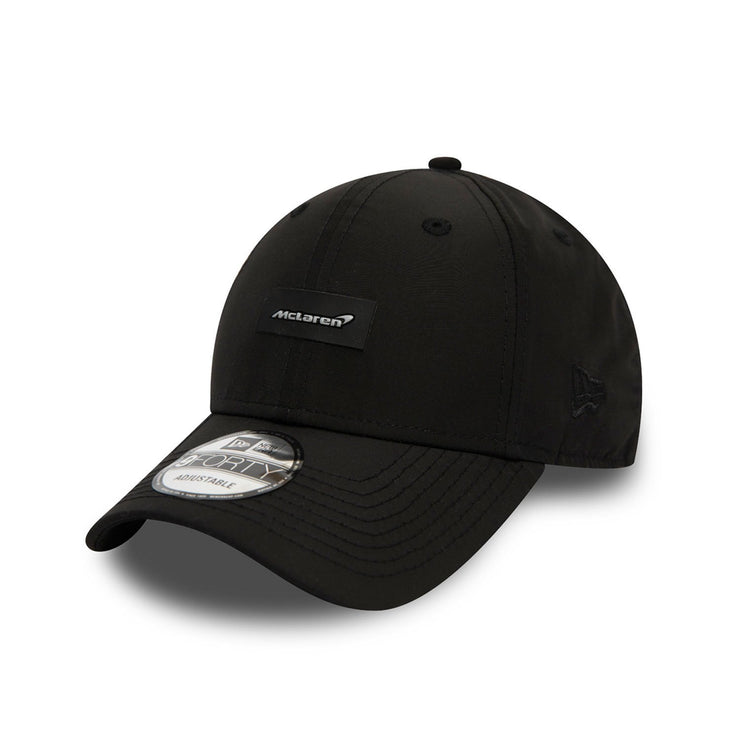 2020 McLaren New Era 9FORTY Black Shine Badge Cap - Men - Black