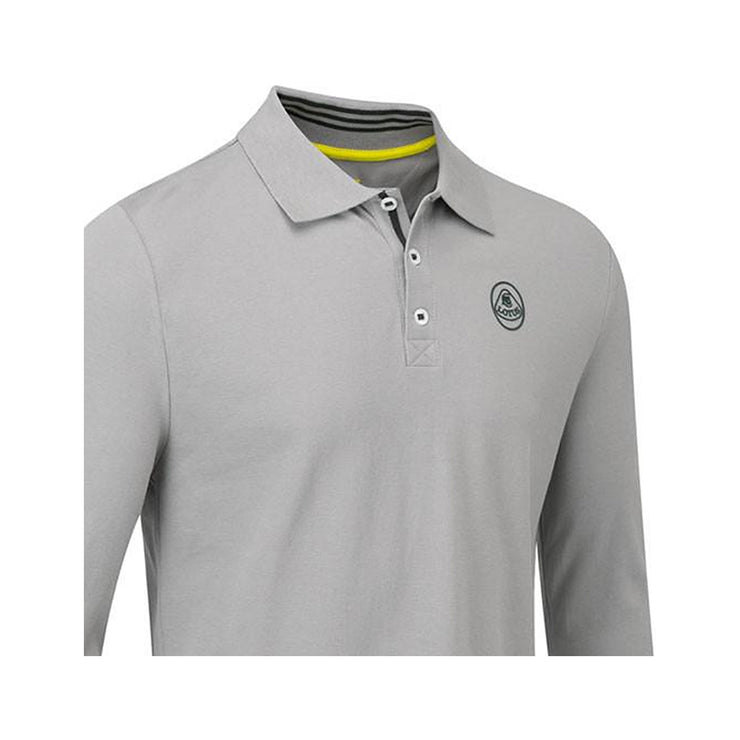 Lotus Cars Men's Long sleeve Polo Shirt - Men - Grey