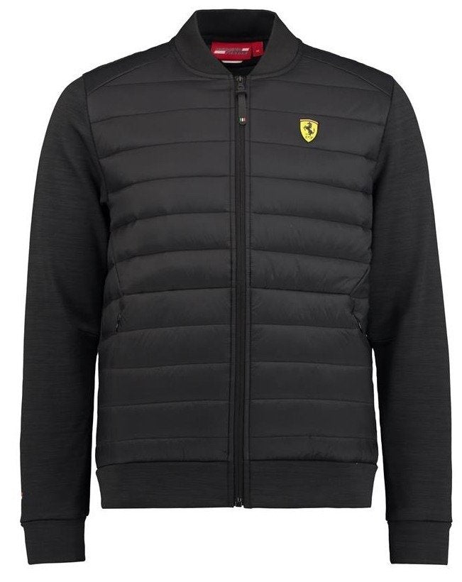 Scuderia Ferrari Hybrid Padded Bomber Jacket - Men - Black
