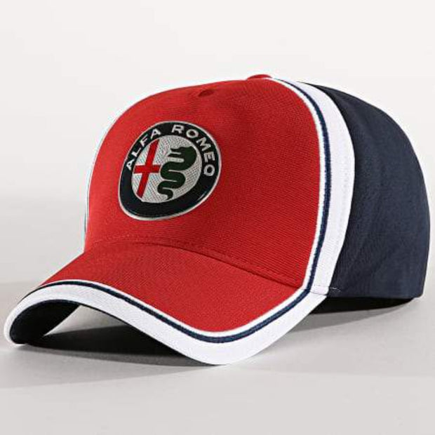 Alfa Romeo Racing F1® Team Logo Curved Cap - Men - Red