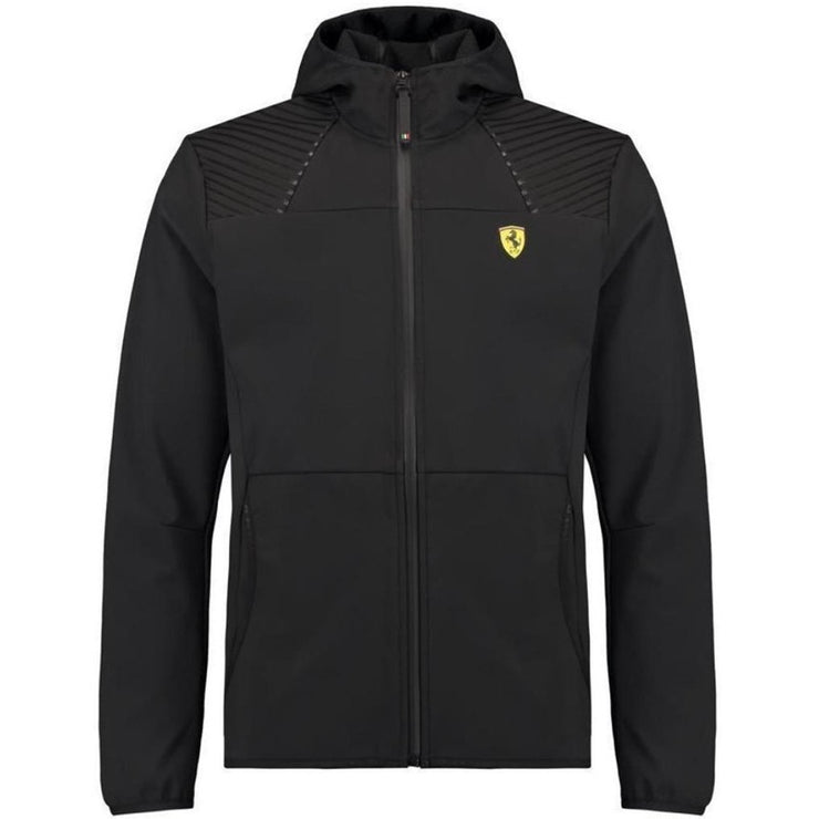 Scuderia Ferrari Fanwear Hooded Softshell - Men - Black - FanaBox