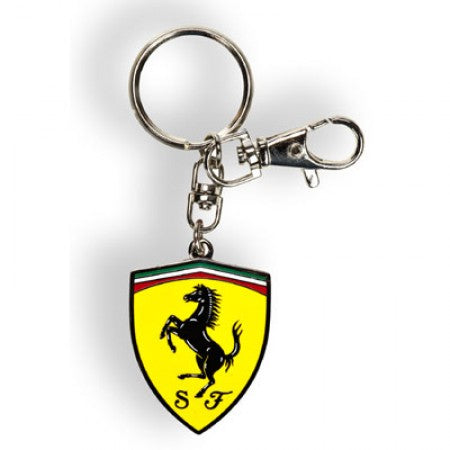 Ferrari Logo Shield Metallic Keychain - Accessories - Yellow - FanaBox
