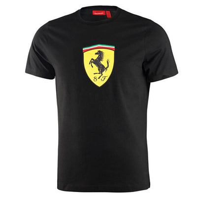 2019 Scuderia Ferrari Logo Shield T-Shirt - Kids - black - FanaBox