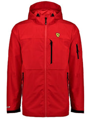 Scuderia Ferrari Hooded Rain Jacket - Men - Red