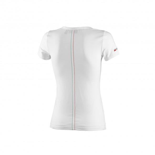 Scuderia Ferrari V-Neck T-shirt - Women - White
