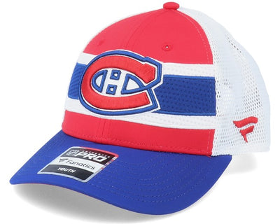 Kids Montreal Canadiens NHL Draft Home Structured Red/Blue/White Trucker - Fanatics