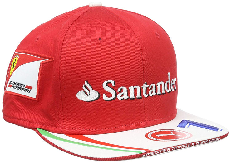 Kimi Raikkonen Scuderia Ferrari Puma Flat Brim cap - Men - Red and White