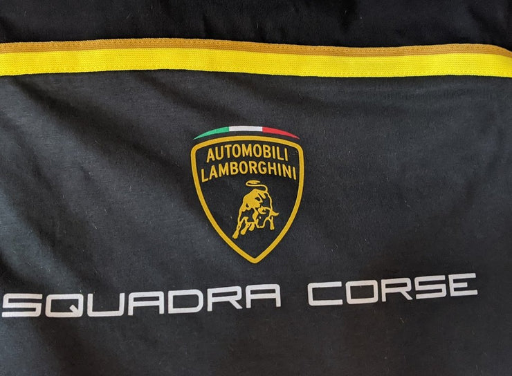 Lamborghini Squadra Corse Team Special Edition T-Shirt - Men - Black and Gold