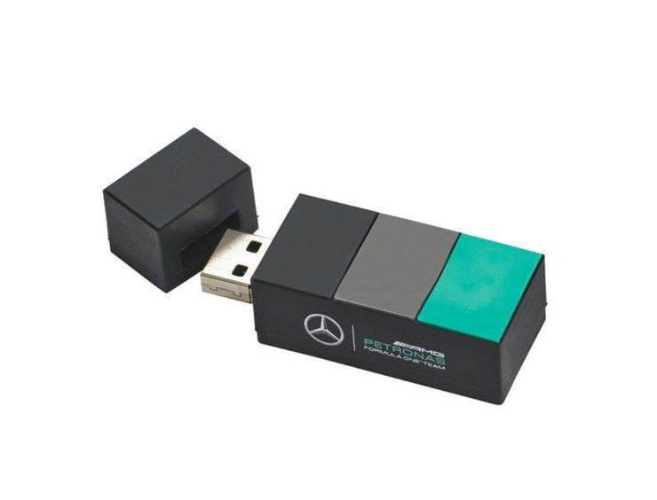 Mercedes AMG Petronas USB Stick - Accessories - Charcoal Grey and Emerald Green - FanaBox