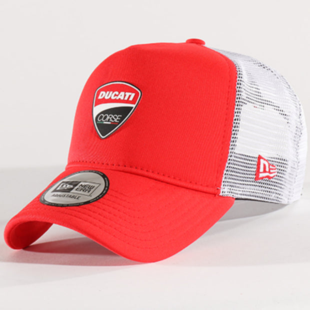 Ducati Corse New Era Snap Back Trucker Baseball Hat - Men  - Red