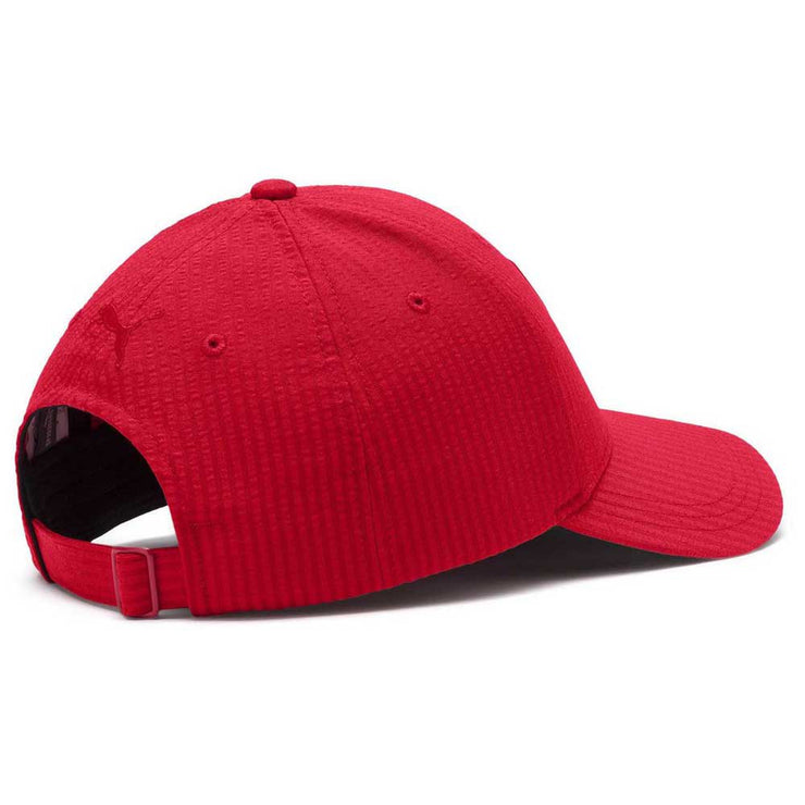 Puma Scuderia Ferrari LS Striped Red Official Baseball Cap Men Red