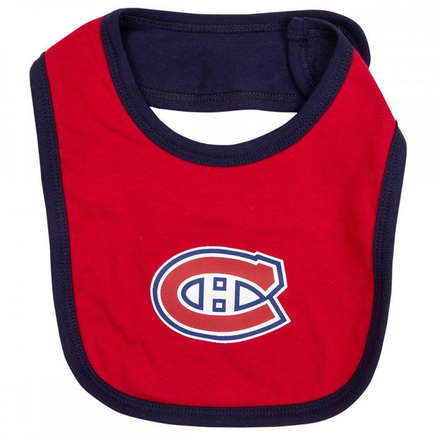 Montreal Canadiens Reebok Baby 3 piece Creeper Bib Bootie Set - Kids - Blue & Red
