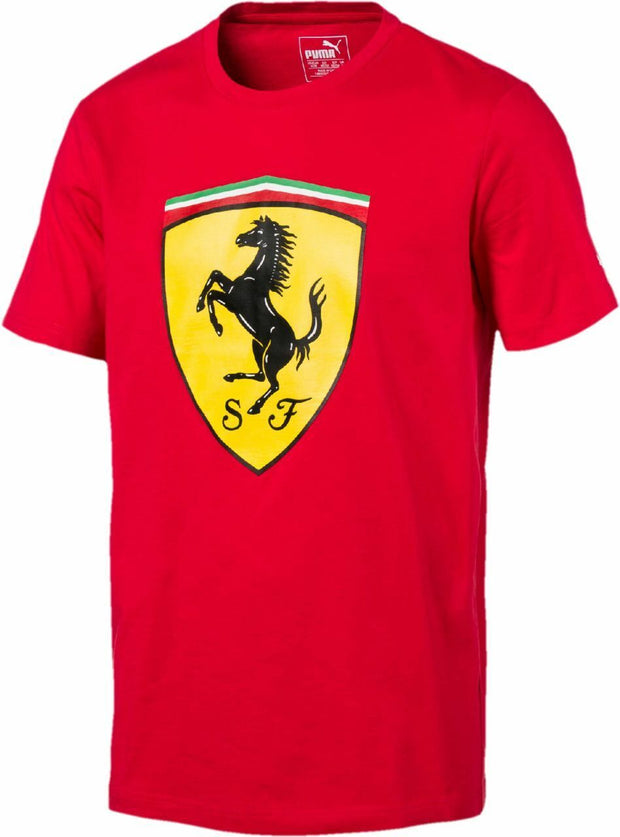 Puma Scuderia Ferrari Classic Logo Shield T-Shirt - Men - Red