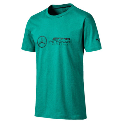 Puma Mercedes AMG F1™ Team Logo T-Shirt - Men - Spectra Green Heather