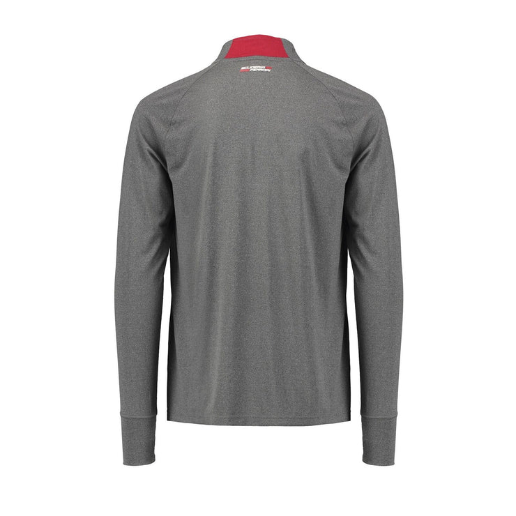 Scuderia Ferrari Half Zipped Active Midlayer Shirt - Men - Grey