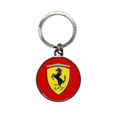 Scuderia Ferrari Round Metallic Keychain - Accessories - Red
