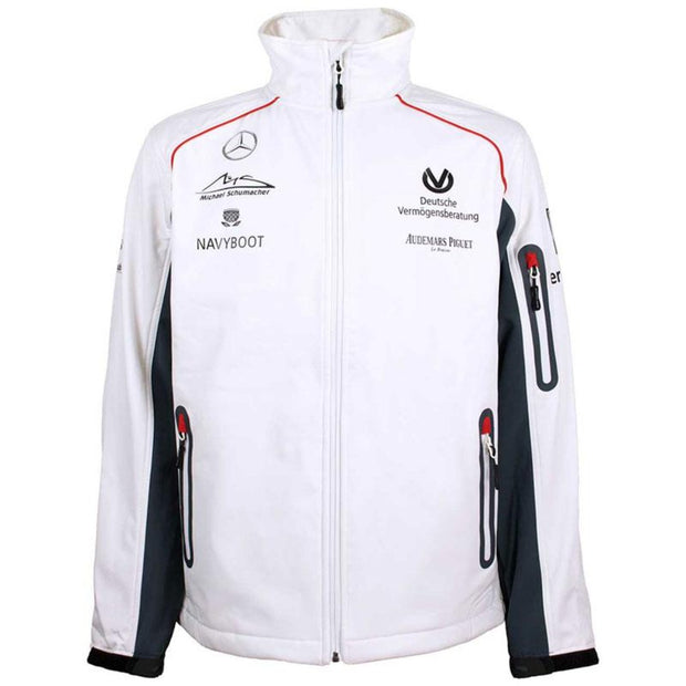 Michael Schumacher Softshell Jacket Sponsor - Men - White - FanaBox